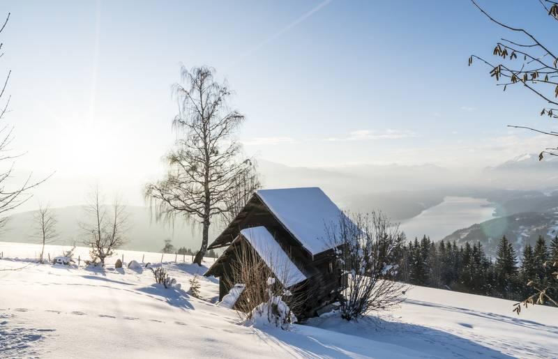 Winterpanorama am Millstätter See