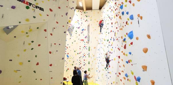 Top Rope Bereich Kletterhalle Villach Stefan Pohinig