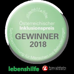 Auszeichnung Inklusionspreis 2018