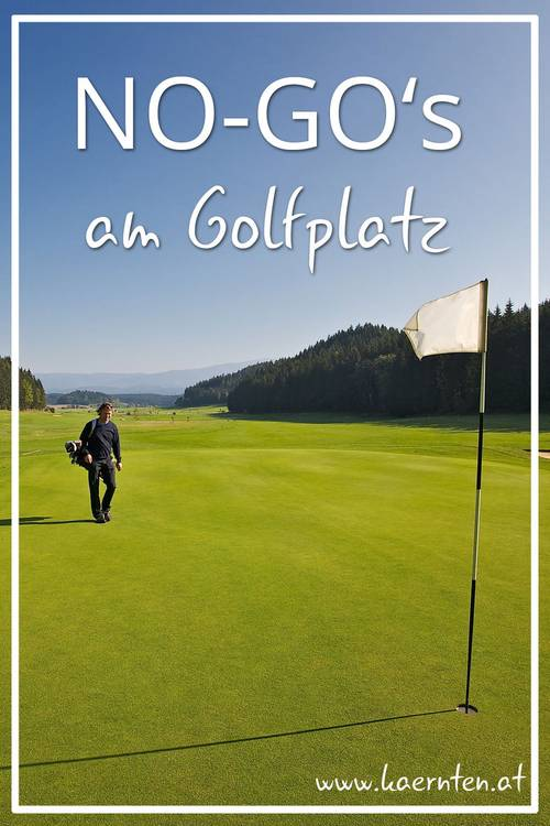 No go s am Golfplatz